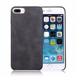 Black Slim Full Protective Retro Leather iPhone Case